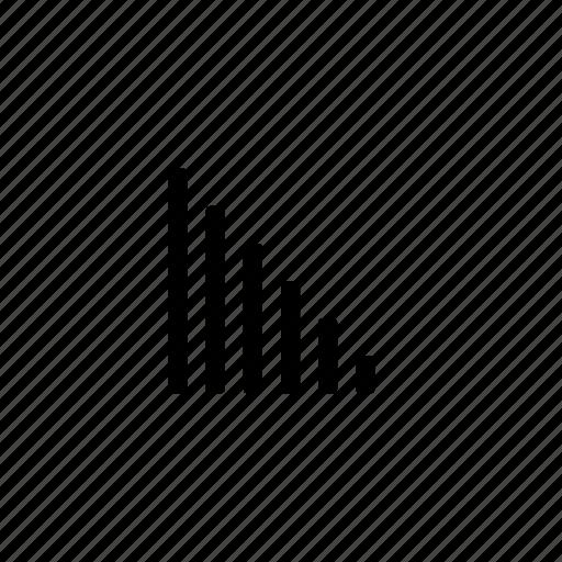 data, descending, lines icon