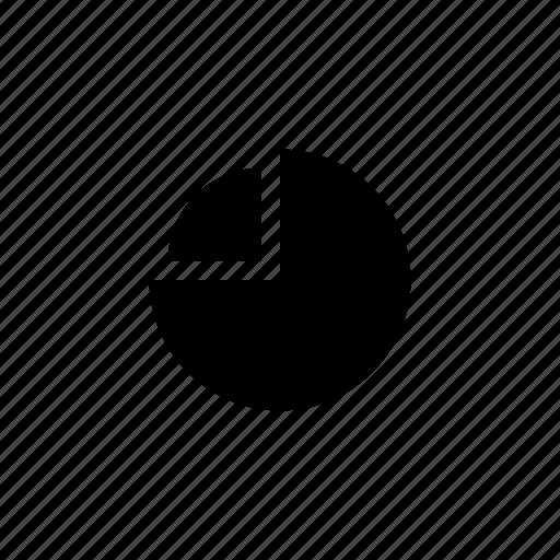 data, pie, quarter icon