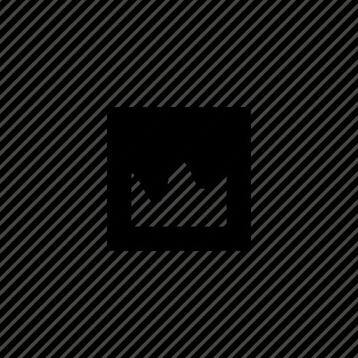 data, graph, irregular, smooth, square icon