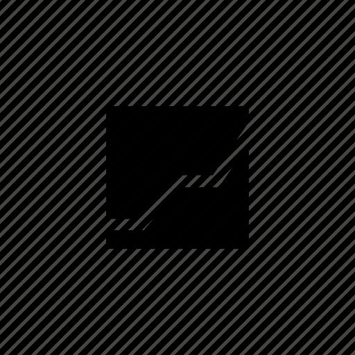 ascending, data, line, square icon