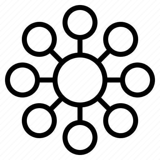 circle, data, diagram, round, visualization icon