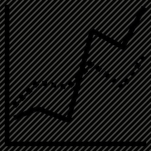data, graph, line, visualisation icon