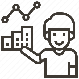 avatar, chart, data, graph, information icon