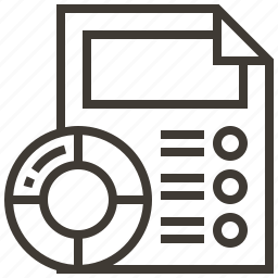 chart, data, document, graph icon