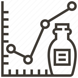 bottle, chart, graph, growth icon