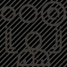 data, information, person, share icon