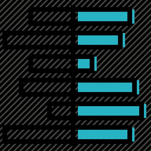bar, chart, data, deviation, diverging, visualisation icon