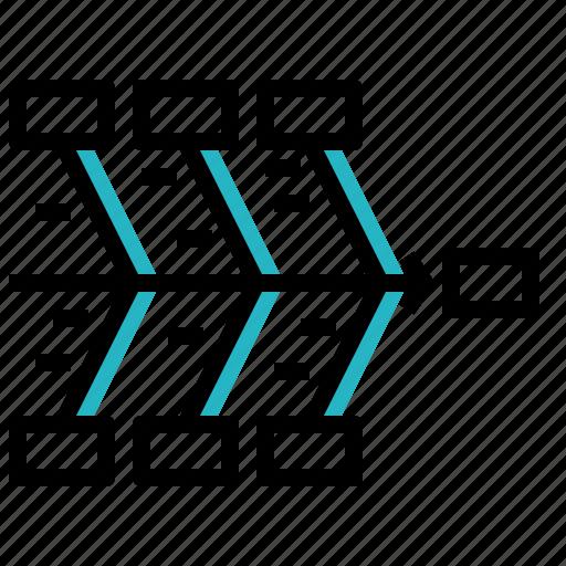 data, diagram, fishbone, visualization icon