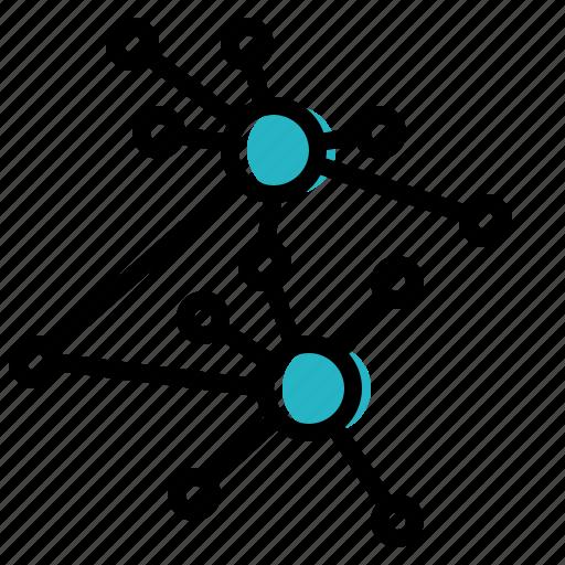 correlation, data, hub, network, visualisation icon