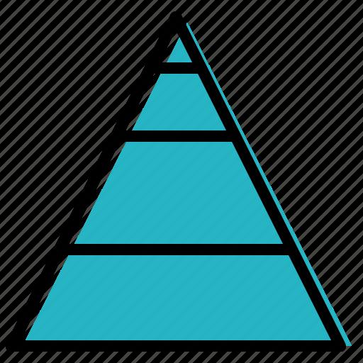 data, pyramid, triangle, visualisation icon