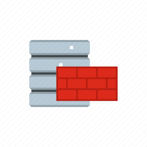brick, data, database, internet, storage, technology, wall icon