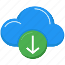cloud computing, data, download, interface, multimedia, storage, upload icon