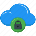 cloud computing, data, interface, lock, multimedia, storage, upload icon