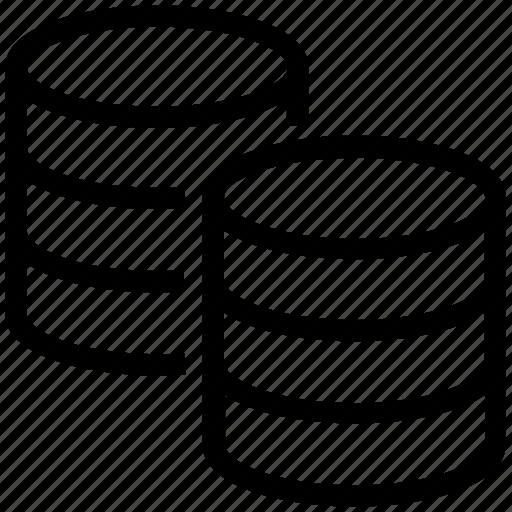 database, hosting, interaction, server, storage icon