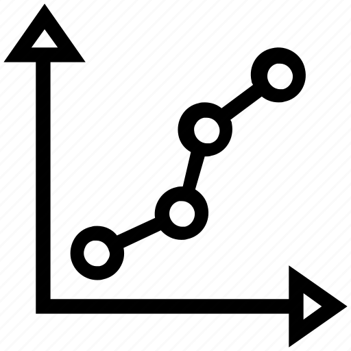 analytics, arrow, graph icon