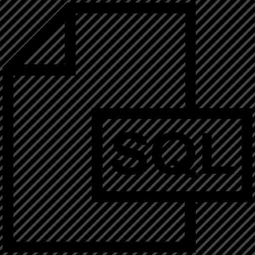 Database, extension, file, file format, sql icon - Download on Iconfinder