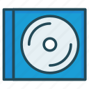 cd, disc, dvd, pack icon