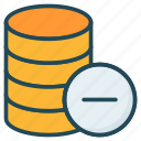 database, remove, server, storage icon