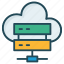 cloud, database, mainframe, server icon