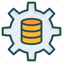 gear, preference, server, setting icon