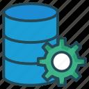 gear, server, setting, storage icon