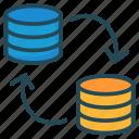 database, file, server, sharing, transfer icon