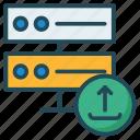 database, server, storage, upload