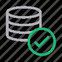 complete, database, done, server, storage