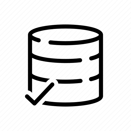 database, outline, outline icons, store, stored icon