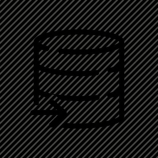 database, dbms, input, insert, outline, outline icons, rdbms icon