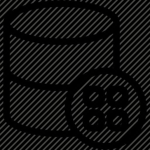 data table, database, datagrid, dataset, grid icon