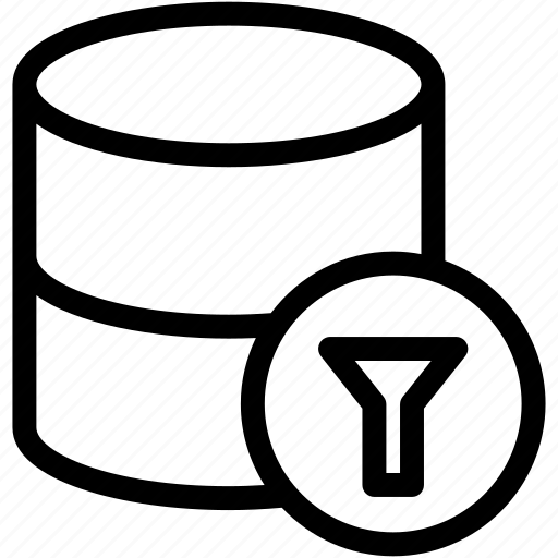 filter, filter data, filter database, filter rows icon
