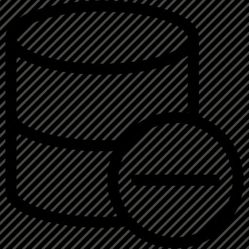 hide, hide database, remove data, remove database icon
