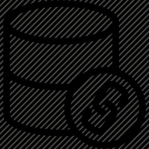 data link, database link, dataset, dataset link, link icon