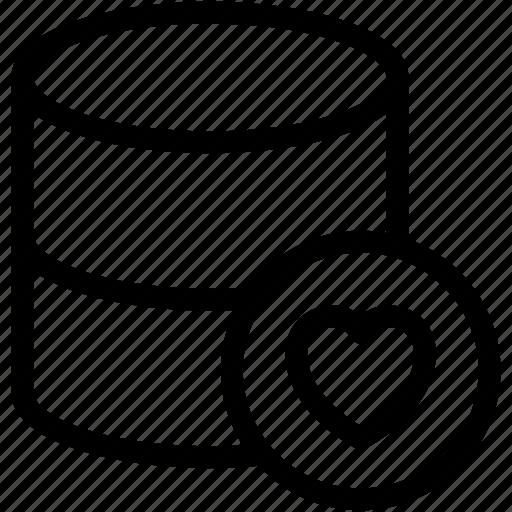 database, favourite data, favourite database, love icon