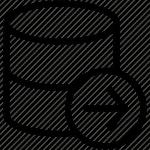 database logout, logout, signout icon