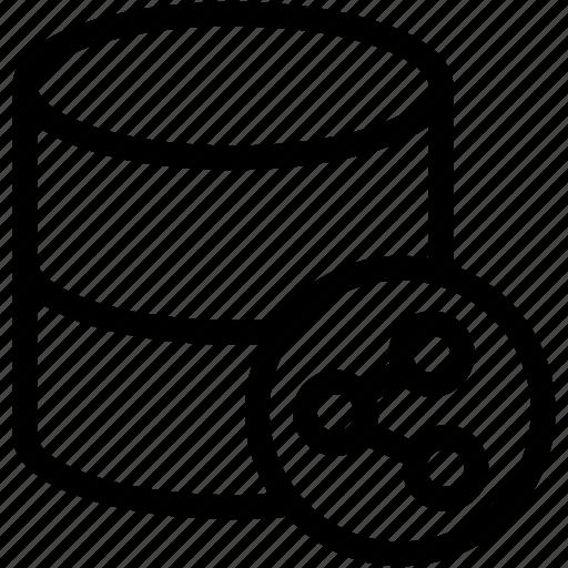share, share data, share database, social icon