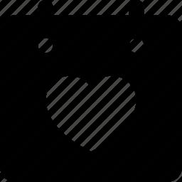 calendar, heart icon