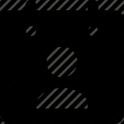 calendar, user icon