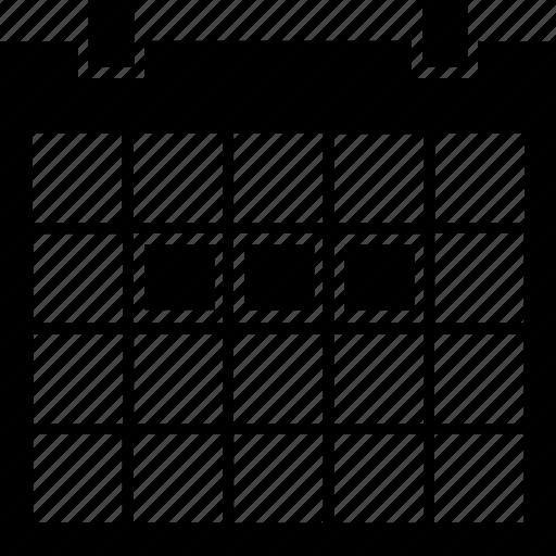 calendar, calender, event, schedule, timetable, werokday, work, work-days, workweek icon