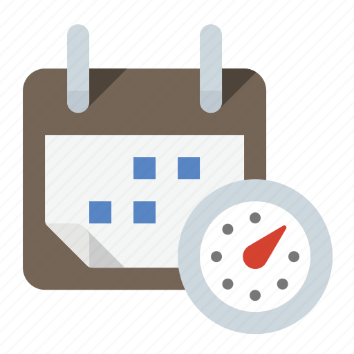 calendar, date, stopwatch, time icon