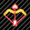 arrow, bow, broken, cupid, dating, romantic
