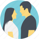 couple, instant connection, intimacy, romantic connection, staring each other icon