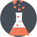 love chemistry, love potion, love reaction, mixing love, science of love icon