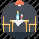candlelight dinner, date night, luxurious dinner, romantic date, romantic dinner icon