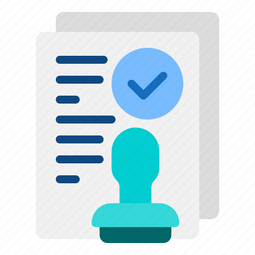 agreement, check, stamp, terms icon