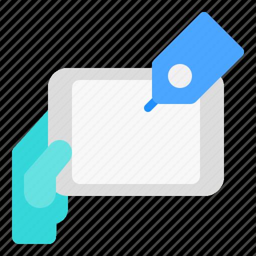 gadget, sale, tablet icon