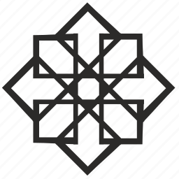 complex, floor, lines, modern, ornament icon