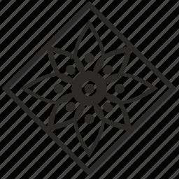 arabic, asia, decoration, floor, ornament, rombus icon