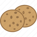 chips, chocolate, chunks, cookies, dessert, sweet, treat icon